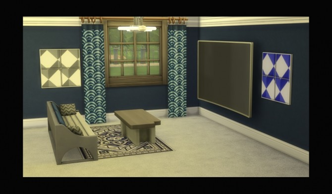 Sims 4 Geomography Painting Recolour by Simmiller at Mod The Sims