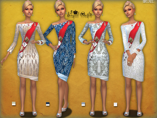 Sims 4 Regal Outfit by Bruxel at TSR