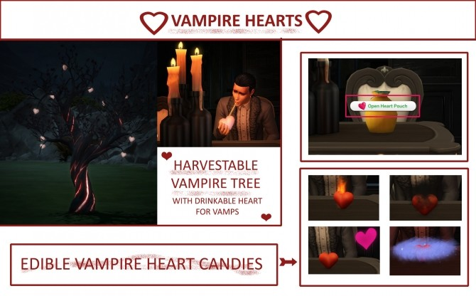 Harvestable Heart Tree and Edible Vampire Hearts by icemunmun at Mod The Sims image 5221 670x416 Sims 4 Updates