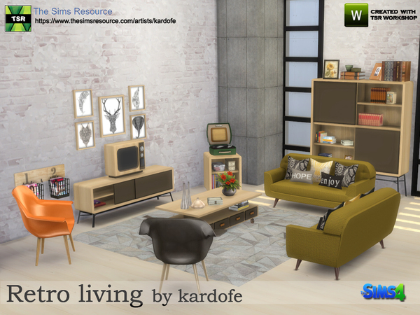 Retro living by kardofe at TSR image 523 Sims 4 Updates