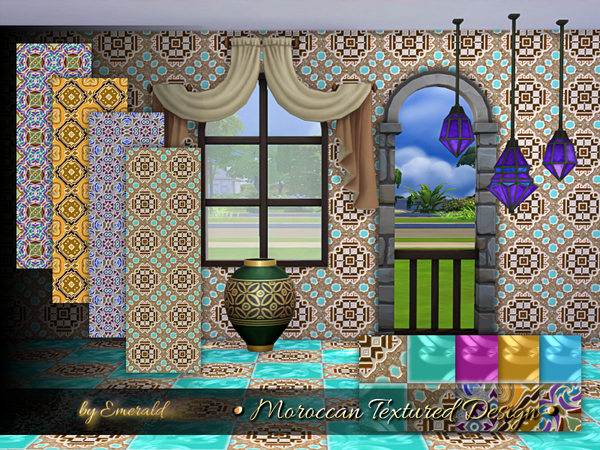 Moroccan Textured Designs by emerald at TSR image 528 Sims 4 Updates