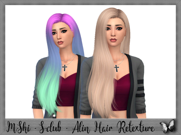 Sims 4 S club Alin Hair Retexture by mikerashi at TSR