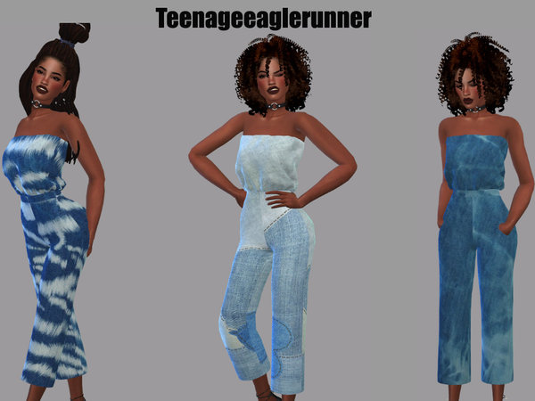 Sims 4 Tube Jumpsuit Recolor by Teenageeaglerunner at TSR