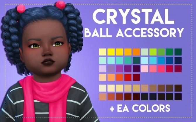 Sims 4 Crystal Hair & Acc by Weepingsimmer at SimsWorkshop