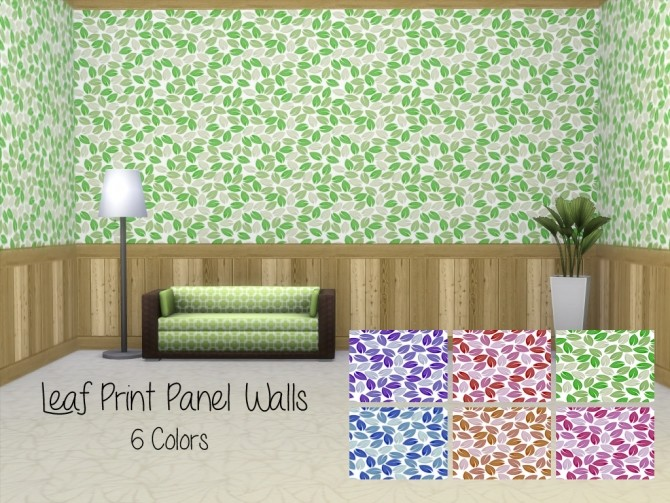 Leaf Panel Walls by Lenabubbles82 at Mod The Sims image 545 670x503 Sims 4 Updates