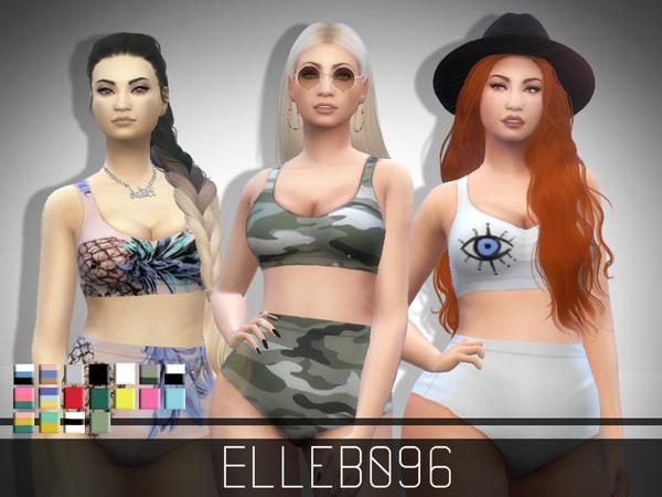 Trendy High Waist Bikini by Elleb096 at TSR image 55 Sims 4 Updates