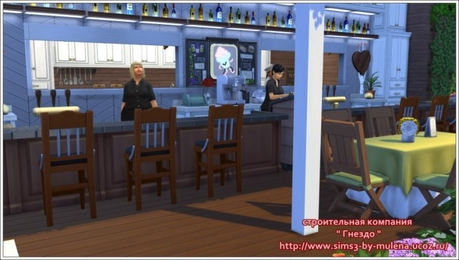 Sims 4 Knight restaurant at Sims by Mulena