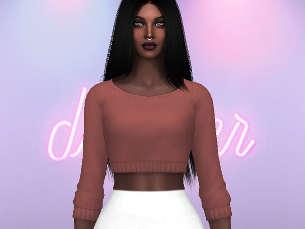 Sims 4 Yuri Cropped Sweater by Rebellesims at TSR