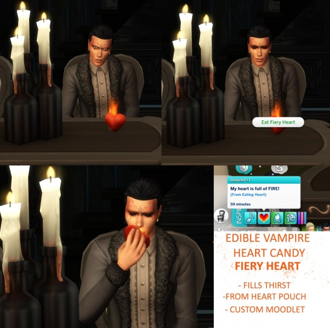 Sims 4 Harvestable Heart Tree and Edible Vampire Hearts by icemunmun at Mod The Sims