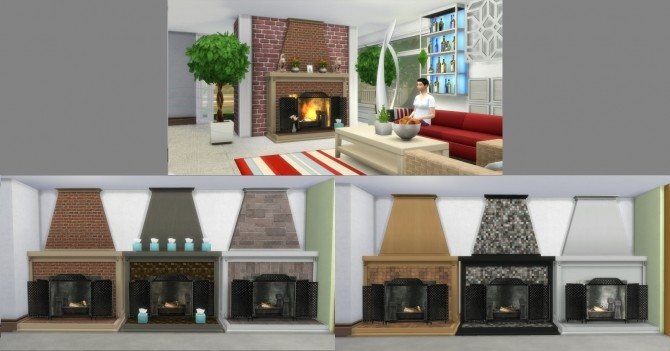 Fire Places 2 by AdonisPluto at Mod The Sims image 5713 670x351 Sims 4 Updates