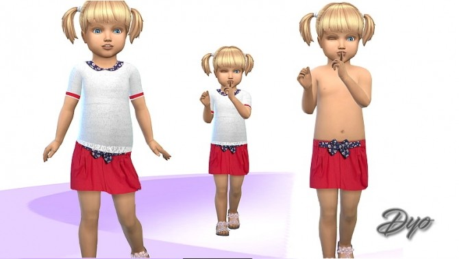 Set girl grey and red by Dyo at Les Sims4 image 5719 670x379 Sims 4 Updates