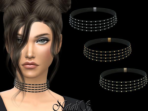 Multilayered Rivet Choker by NataliS at TSR image 5817 Sims 4 Updates