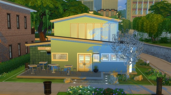 Sims 4 Deco Cafe by Krowvacs at Mod The Sims