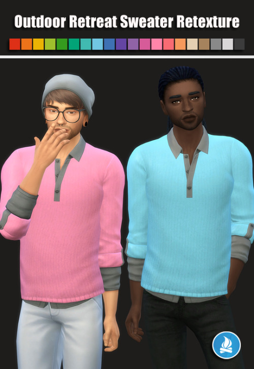 Outdoor Retreat Sweater Retexture at Maimouth Sims4 image 586 Sims 4 Updates