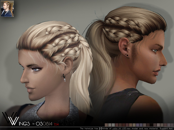OS0814 hair by Wings Sims at TSR image 5910 Sims 4 Updates