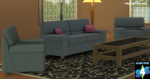 Sims 4 Tivoli Sofa Setting at Simista