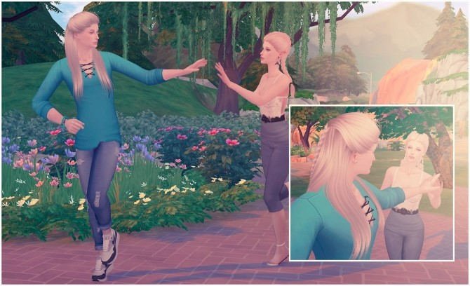 Sims 4 Running together poses at Rethdis love