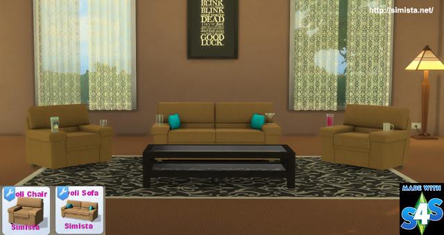 Tivoli Sofa Setting at Simista image 607 Sims 4 Updates