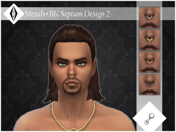 Metals + BK Septum Design 2 by ALExIA483 at TSR image 609 Sims 4 Updates