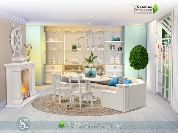 Coastal Dining room by SIMcredible at TSR image 6102 Sims 4 Updates