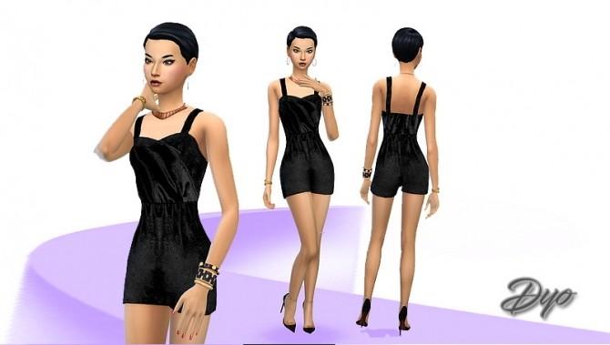 Sims 4 Short Jumpsuit by Dyokabb at Les Sims4