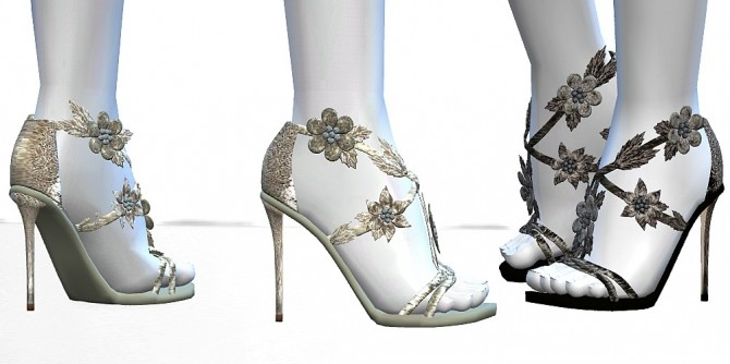 Flower Sandals by MrAntonieddu at MA$ims4 image 626 670x334 Sims 4 Updates