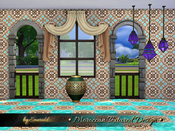 Moroccan Textured Designs by emerald at TSR image 629 Sims 4 Updates