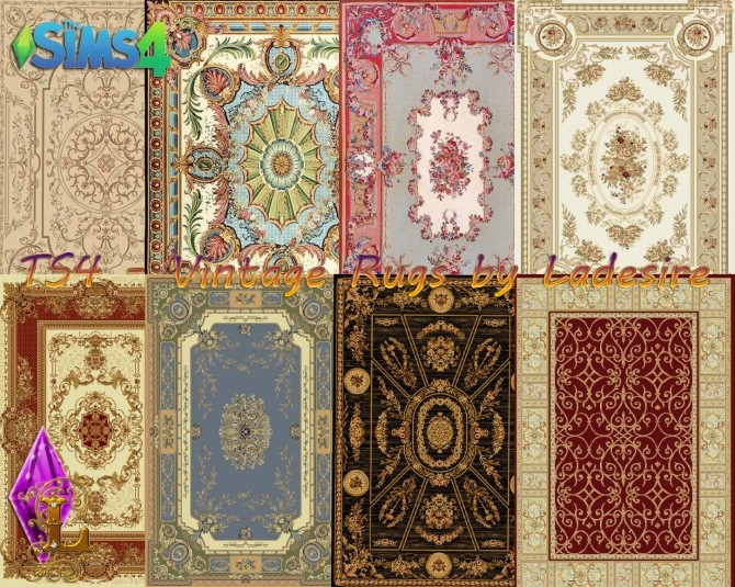 Vintage Rugs At Ladesire 187 Sims 4 Updates