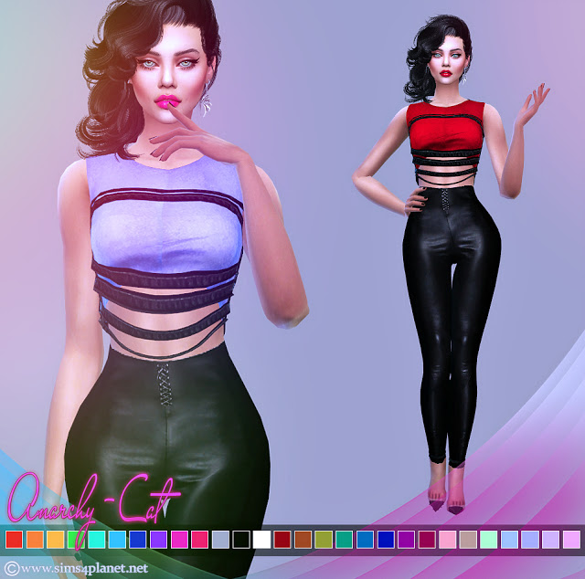 Outfit #93 at Anarchy Cat image 638 Sims 4 Updates