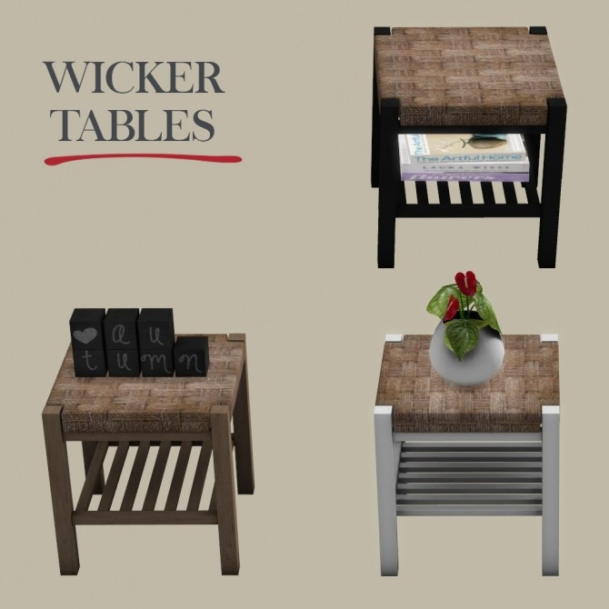 Sims 4 Wicker Tables at Leo Sims