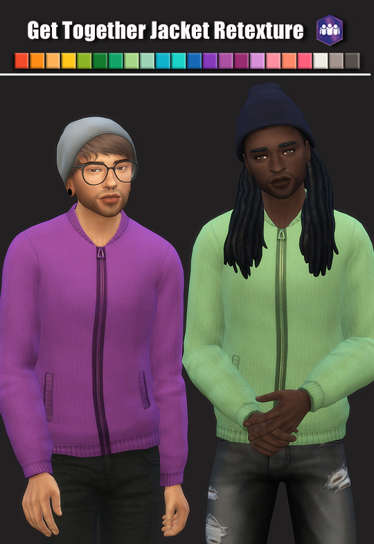Sims 4 Get Together Jacket Retexture at Maimouth Sims4
