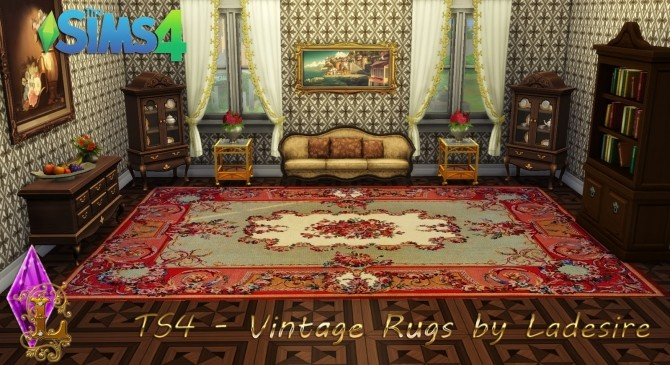 Vintage Rugs at Ladesire image 656 670x365 Sims 4 Updates