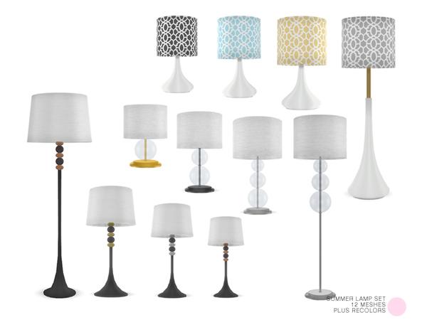 Summer Lamp Set by DOT at TSR image 663 Sims 4 Updates