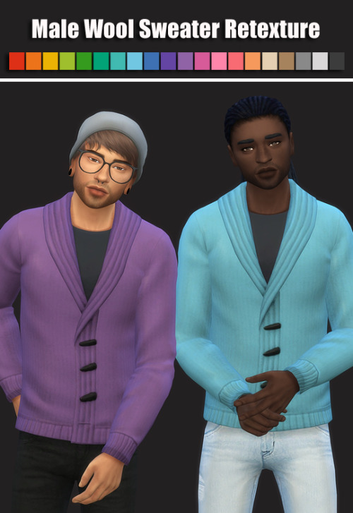 Sims 4 Male Wool Sweater Retexture at Maimouth Sims4