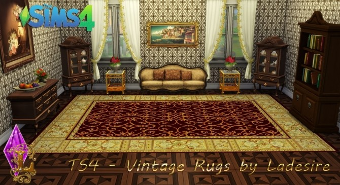 Vintage Rugs at Ladesire image 666 670x365 Sims 4 Updates