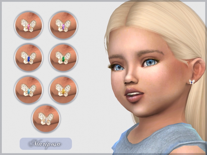 Mariposa Earrings For Toddlers At Giulietta 187 Sims 4 Updates
