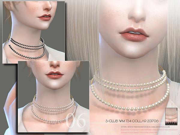Sims 4 Pearl Collar F 201706 by S Club WM at TSR