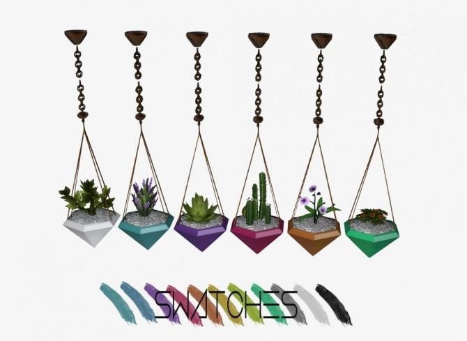 Diamond Hanging Planters at Daer0n – Sims 4 Designs image 687 670x489 Sims 4 Updates