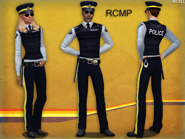 Royal Canadian Mounted Police uniform by Bruxel at TSR image 6916 Sims 4 Updates