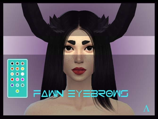 Fawn Eyebrows non default by lichoradka at Mod The Sims image 703 670x503 Sims 4 Updates