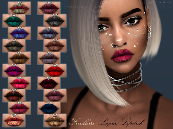 Focallure Liquid Lipstick by ANGISSI at TSR image 7100 Sims 4 Updates