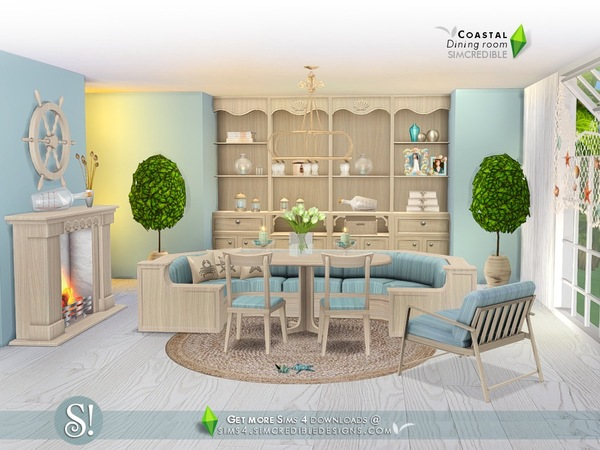 Coastal Dining room by SIMcredible at TSR image 7103 Sims 4 Updates