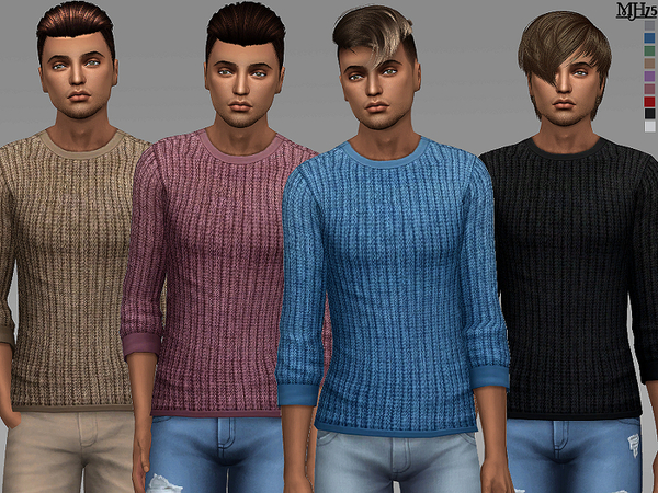 Denny Sweaters by Margeh 75 at TSR image 7106 Sims 4 Updates