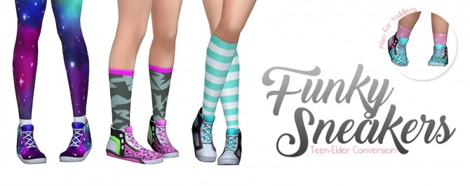 Funky Sneakers at SimLaughLove image 718 670x266 Sims 4 Updates