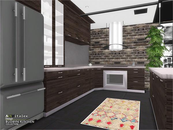 Sims 4 Budbyn Kitchen by ArtVitalex at TSR