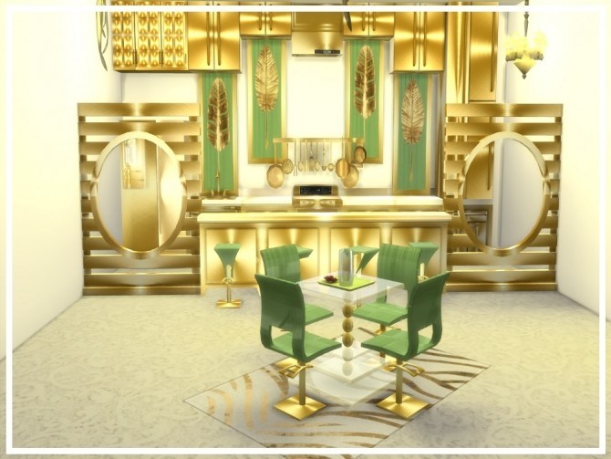 Zoes Dining Room Set At NEW Luxurious Sims 4