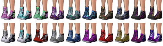 Funky Sneakers at SimLaughLove image 725 670x191 Sims 4 Updates