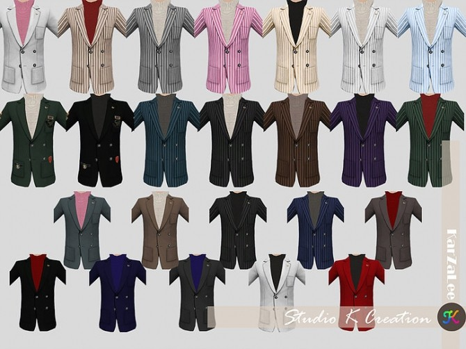 Giruto 30 Blazers Suit Jackets at Studio K Creation image 726 670x502 Sims 4 Updates