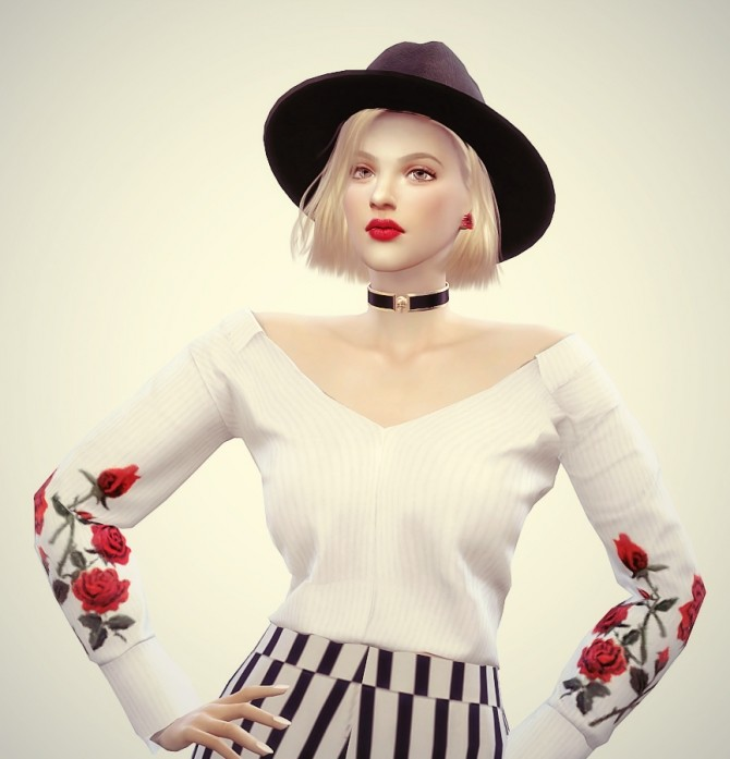 Rose Moore at Vicky SweetBunny image 7319 670x697 Sims 4 Updates