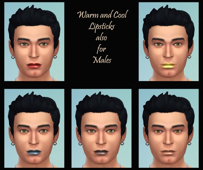 Sims 4 Matte Lipsticks Cool and Warm Shades by Simmiller at Mod The Sims